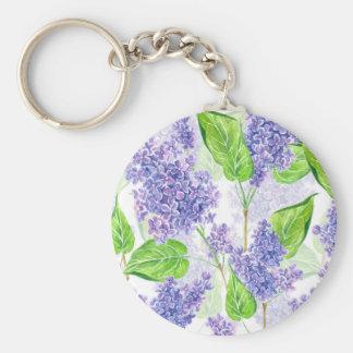 Chaveiro Flores do lilac da aguarela