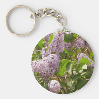 Chaveiro Flores roxas bonitas do primavera de Bush de Lilac