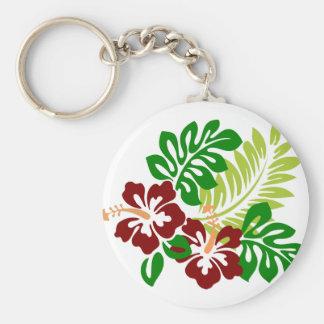 Chaveiro Flores tropicais do hibiscus