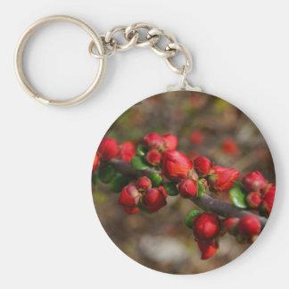 Chaveiro Flores vermelhas arborizados