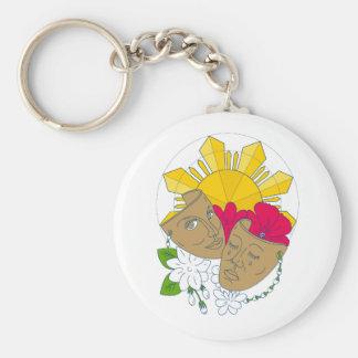 Chaveiro Fluxo filipino de Sampaguita do hibiscus de Sun da