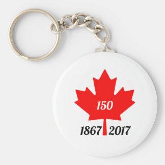 Chaveiro Folha de bordo de Canadá 150 em 2017