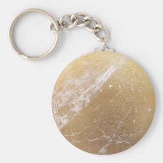 Chaveiro folha de mármore do ouro