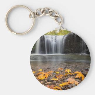 Chaveiro Folhas de bordo da queda na cachoeira escondida