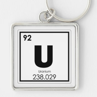 Chaveiro Fórmula de urânio da química do símbolo do