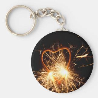 Chaveiro Foto macro de um sparkler ardente no formulário de