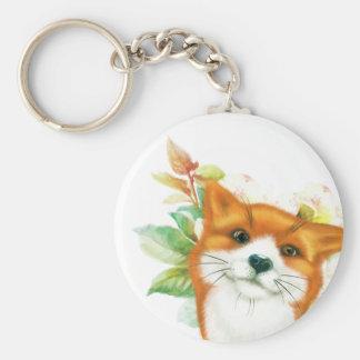 Chaveiro Fox e rosas