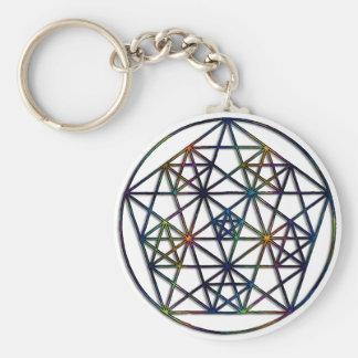 Chaveiro Fractal sagrado da geometria da abundância da vida