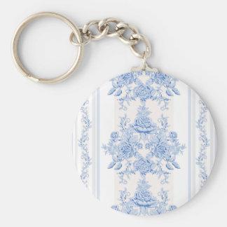 Chaveiro Francês, chique, vintage, azul pálido, branco,