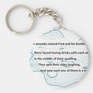 Chaveiro Fred a ameba - um poema da ciência de