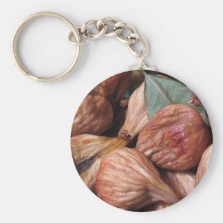 Chaveiro Frutas do outono. Close up de figos secados com