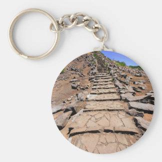 Chaveiro Fuga de caminhada que conduz a montanha em Madeira