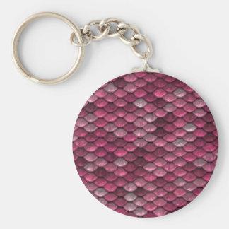 Chaveiro Fundo cor-de-rosa de Snakeskin