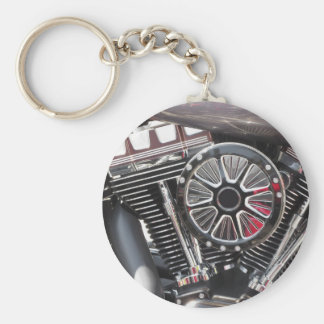 Chaveiro Fundo cromado motocicleta do detalhe do motor