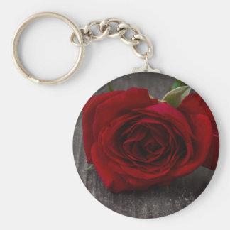 Chaveiro fundo da rosa vermelha