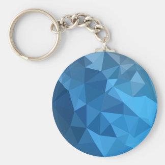 Chaveiro Fundo do polígono do abstrato do azul do