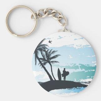 Chaveiro Fundo do surfista do verão da palma