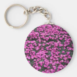 Chaveiro Fundo natural de flores roxas do cravo