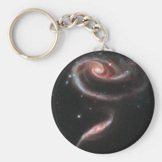 Chaveiro Galáxia cor-de-rosa