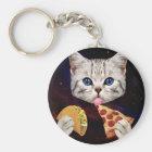 Chaveiro Gato do espaço com taco e pizza