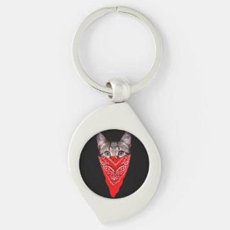 Chaveiro gato do gângster - gato do bandana - grupo do gato
