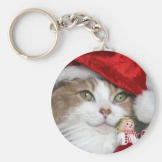 Chaveiro Gato do papai noel - gato do Natal - gatinhos