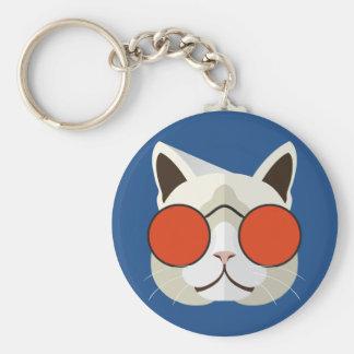 Chaveiro Gato legal nos óculos de sol