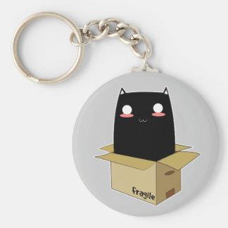 Chaveiro Gato preto em uma caixa
