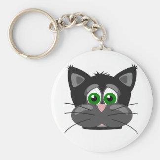 Chaveiro gato preto Verde-eyed