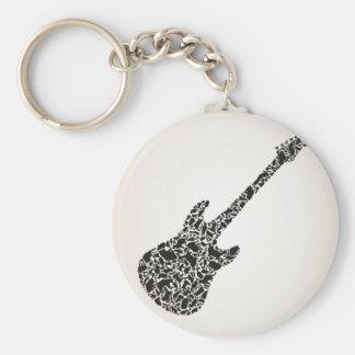 Chaveiro Gato uma guitarra