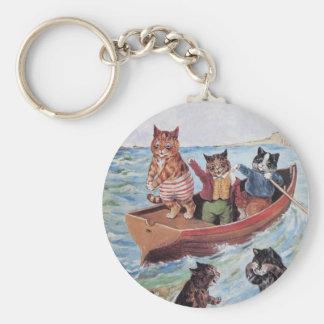 Chaveiro Gatos da natação de Louis Wain