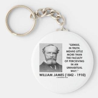 Chaveiro Gênio de William James que percebe uma maneira de
