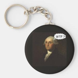 Chaveiro George Washington que gira em sua sepultura