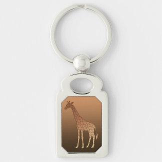 Chaveiro Girafa, cobre e Brown geométricos modernos