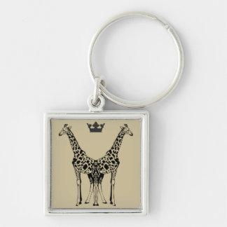 Chaveiro Girafas Elegantes