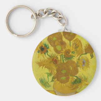Chaveiro Girassóis de Vincent van Gogh - arte clássica