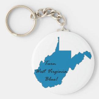 Chaveiro Gire West Virginia azul! Orgulho Democrática