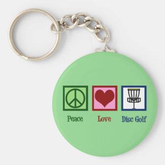 Chaveiro Golfe do disco do amor da paz