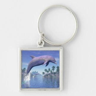 Chaveiro Golfinho nos trópicos - 3D rendem