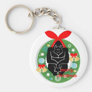 Chaveiro gorila do Feliz Natal