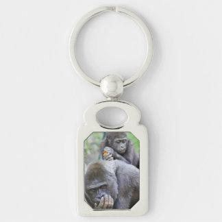 Chaveiro Gorila e bebê