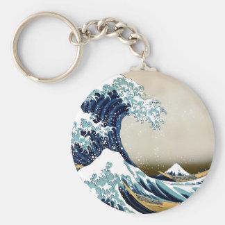 Chaveiro Grande onda de alta qualidade fora de Kanagawa por