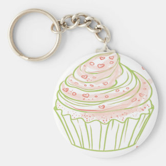 Chaveiro green_peach_cupcake_with_icing