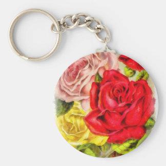 Chaveiro Grupo da aguarela dos rosas
