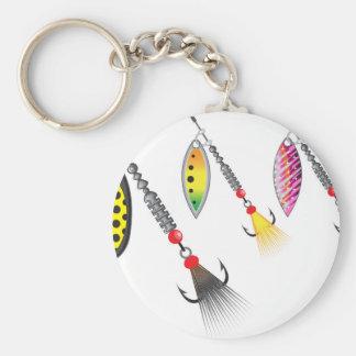 Chaveiro Grupo de giradores que pescam a ilustração do