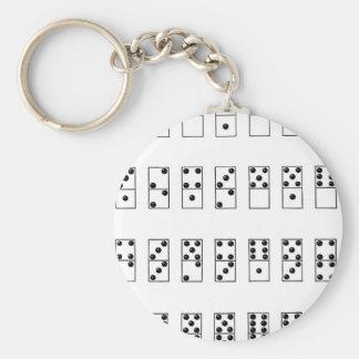 Chaveiro grupo retro do vintage de dominós