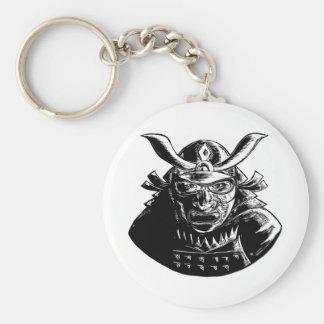 Chaveiro Guerreiro do samurai que veste o Woodcut de Mempo