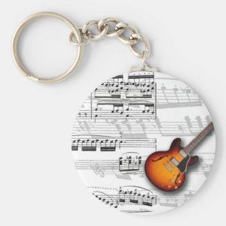 Chaveiro Guitarra e partitura