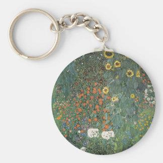 Chaveiro Gustavo Klimt - flores dos girassóis do jardim do