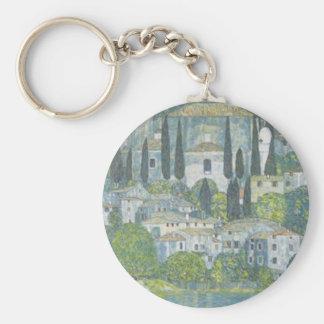 Chaveiro Gustavo Klimt - igreja no trabalho de arte de